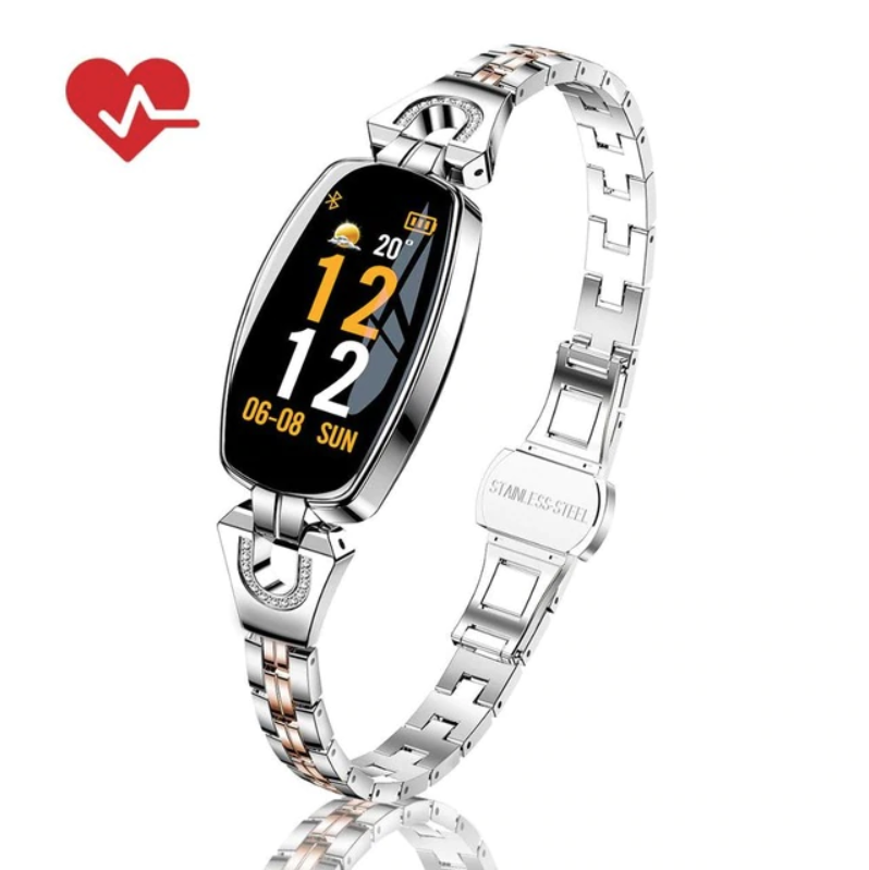Elegant Pedometer / Heart Rate And Blood Pressure Monitor / Smart Watch For Women